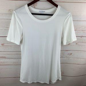 James Perse | White Round Neck T Shirt
